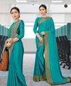 Viva N Diva Uniform Crepe Saree