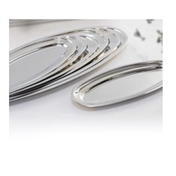 Silver Stainless Steel Fish Platter