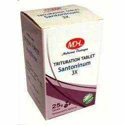 MDHL Santoninum 3X Tablet, 25gm, Prescription