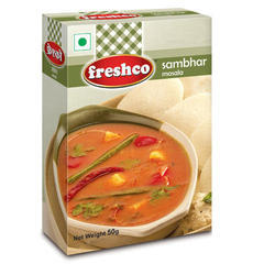 Freshco 50 g Sambhar Masala, Packaging: Box