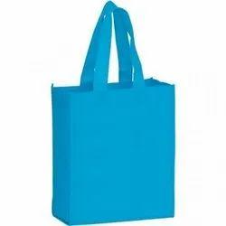 Handled Sky Blue Non Woven Foldable Bag, Capacity: Upto 3 Kg
