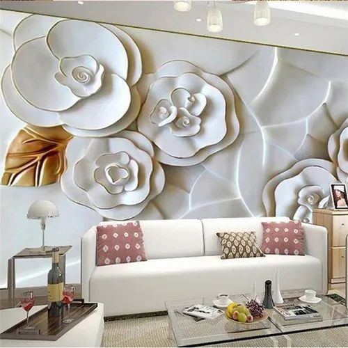 Non Woven Kayra Decor 3d Embossed Wallpaper For Home Decoration Rs 100 Square Feet Id 20830541797