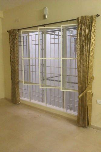 White And Dark Brown Aluminium Mosquito Net Window