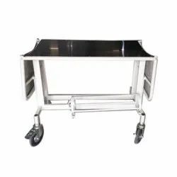 Hospital Folding Stretcher Trolley, Stainless Steel