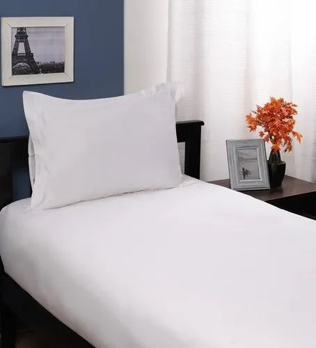 d9aaa39f8f9 White Pure Cotton Single Bed Sheet Pair