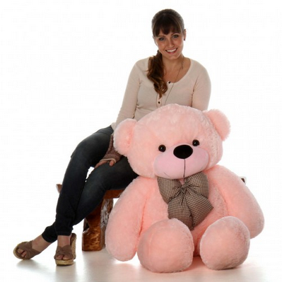 96753c9a4 ToYBULK. Com Customized Pink Color Teddy Bear 4 Feet Tall 48 Inch at ...