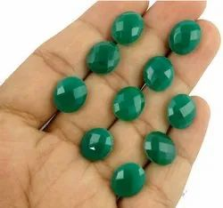 Natural Green Onyx Briolette Shape Gemstone