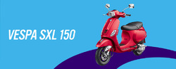 RED Vespa SXL 150