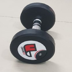 Fixed Weight Round Gym Rubber Dumbbell