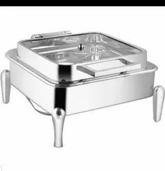 Full Glass Lid Hydraulic Chafing Dish