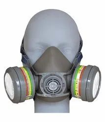 rubber Gray Vinus Gas Mask V-800 With 7800 Dual Cartage