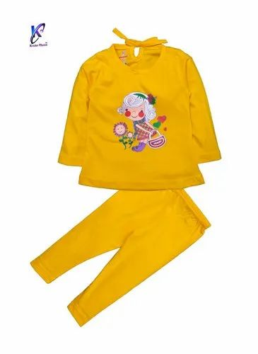 Baby Girl's Full Sleeve Top With Full Pant