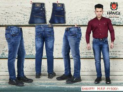 Hanex Knitted Denim Faded Jeans