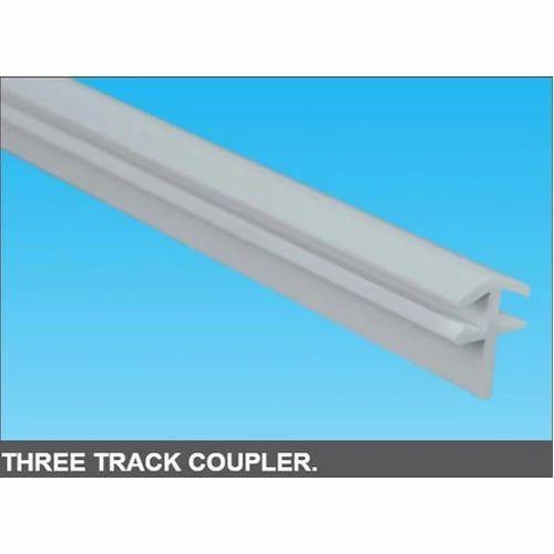 Three Track Coupler Upvc Profile