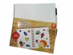 3-5 Years Kids Whiteboard Drawing Book Write Erase Plain Activity Books, Packaging Type: Single, Lkg/Ukg