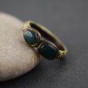 Green Onyx Gemstone Finger Rings