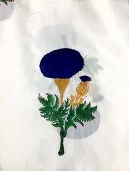 Vinayak Handicraft Natural Color Jaipur Small Tree Print Handmade Flower Design