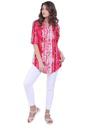 Pink Printed Long Top