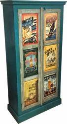 Kernig Krafts Green POP Art Wooden Cabinet, For Home, Office