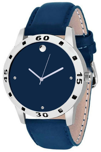 Blue Men Leather Watch