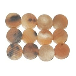 Round Sam Crafts Cow Ox Horn Button Blanks
