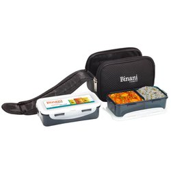 Rectangle Lunch Box With 2 Containers for Office