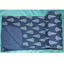 Blue Printed Cotton Quilt
