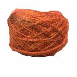 Orange Recycled Silk Yarn