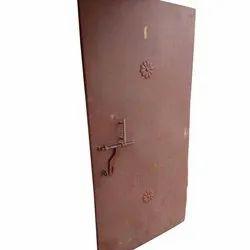 Brown Polished Plain Iron Door
