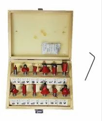 Cutter 12pcs Premium Router/Trimmer Bit Set with Wooden Box for Wood Working