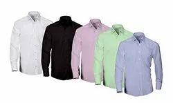 Cotton Collar Neck Men's Shirts Plains, Size: S-2XL