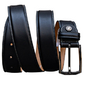 Fabbro Black Leather Belt