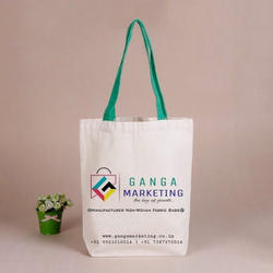 White Ganga Marketing Non Woven Fabric Bag