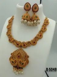 Matte Finish Hasli Jewellery Set - D 5048