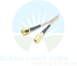 RF Cable Assembly QMA Male to SMA Male in RG316