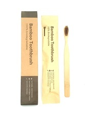 Wood Bamboo Tooth Brush-Flat Handle