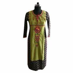 Womens Embroidery Rayon Kurti