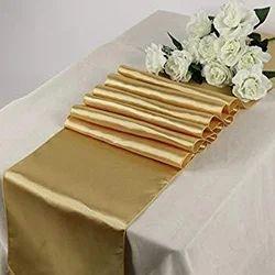 Kinkob Plain Hotel Banquet Table Runner, Size: 120 *160 Cm