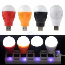 Round Cool Daylight Portable /LED USB Bulb Mini Night Light