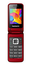 Karbonn K Flip Phone Red, Screen Size: 7.36 cm
