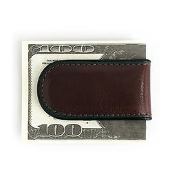 custom brand Magnetic Money Clip In Genuine Leather