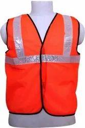 Net Polyester Safety Jacket, Size: Free Size