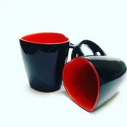 Black Ceramic Milk Mugs, Packaging Type: Box