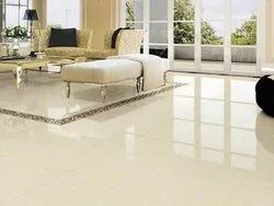 Double Charged Glossy Vitrified Floor Tile, 600 mm x 600 mm, Size: 60 * 120 in cm