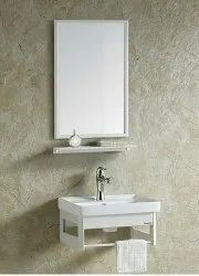 White Ceramic Bathroom Cabinet Wash Basin