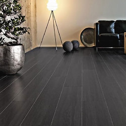 Oak Ebony Laminated Wooden Flooring