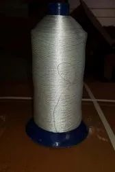 White Nylon thread quilting