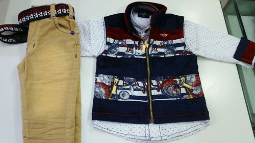 Boys 3 Color Ethnic Jacket Suit