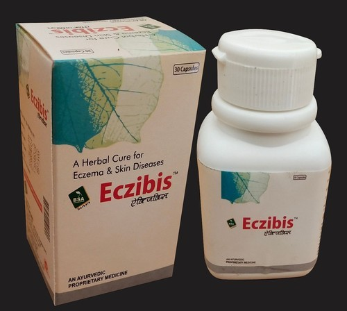 Eczibis Ayurvedic Medicine for Eczema and Skin Diseases, Packaging Size: 30 Capsules, Packaging Type: Bottle