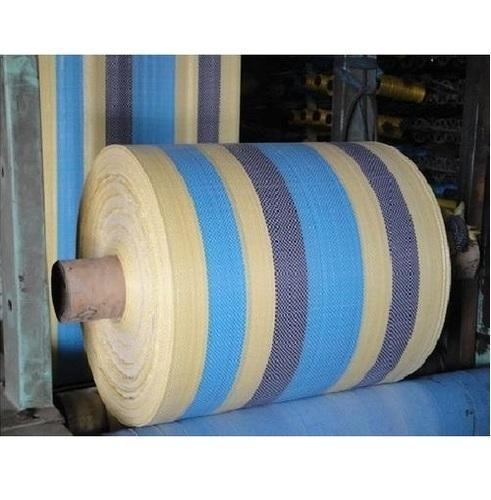 PU Coated Colored Strips HDPE and PP Woven Fabrics, GSM: 150-200